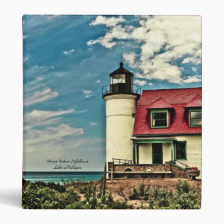"""Point Betsie Lighthouse Binder (1"""")"""