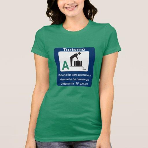 Point d'arrêt de Turist, poteau de signalisation, T-shirt