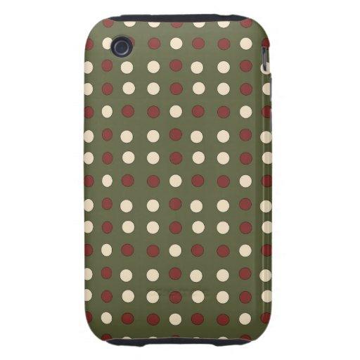 Point de polka de vacances ou cas intelligents de  coques iPhone 3 tough