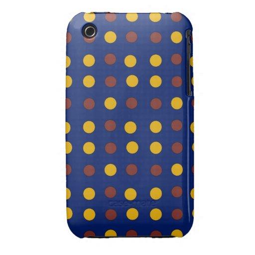 Point de polka de vacances ou cas intelligents de  coque Case-Mate iPhone 3