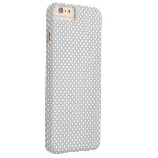 Point de polka gris et blanc coque iPhone 6 plus barely there
