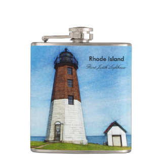 Point Judith Lighthouse Flask