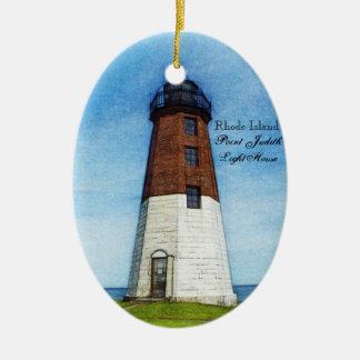 Point Judith lighthouse ornament