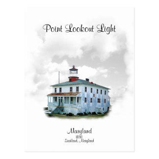 Point Lookout Light - Maryland Postcard
