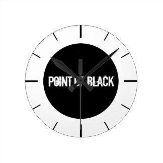 """Point of Black"" Wallclocks"