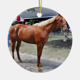 Point of Entry Colt Round Ceramic Ornament