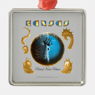 Point of Know Return Silver-Colored Square Ornament