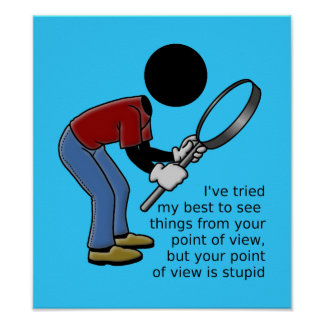 Point of View is Stupid Poster