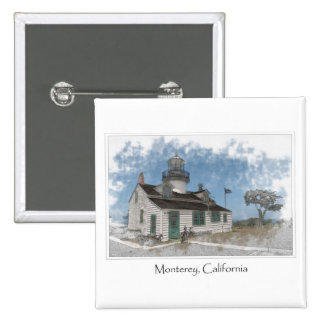 Point Pinos Pacific Grove Monterey California 2 Inch Square Button