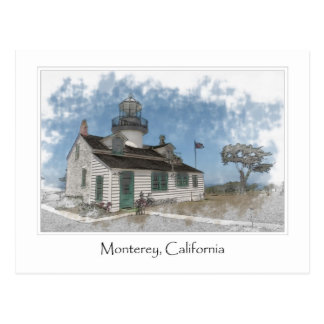 Point Pinos Pacific Grove Monterey California Postcard
