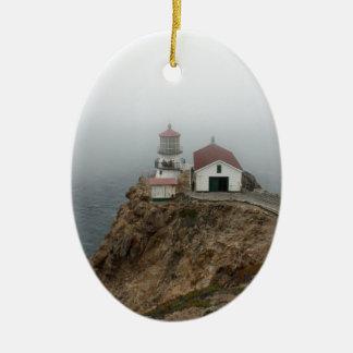 Point Reyes - Light House Ceramic Oval Ornament