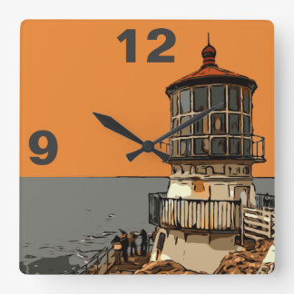 POINT REYES SQUARE WALL CLOCK