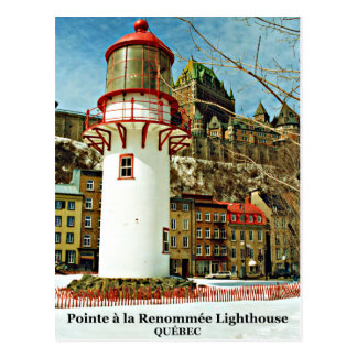 Pointe à la Renommée Lighthouse, Québec Postcard