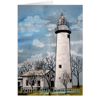 pointe aux Barques Lighthouse port hope michigan Card