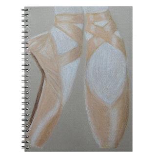 Pointe Ballet Feet Spiral Notebook
