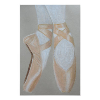 Pointe ballet shoes photo print