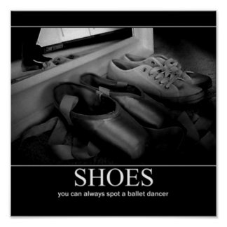 pointe shoe poster 1