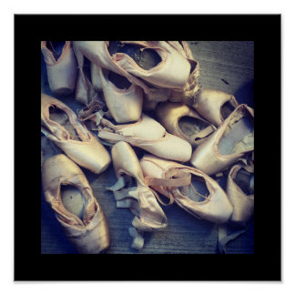 "Pointe shoe poster 12"" x 12"""
