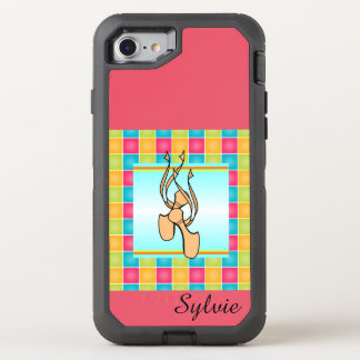 Pointe Shoes on Plaid OtterBox Defender iPhone 7 Case