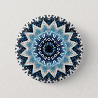 Pointed Blue Mandala 2 Inch Round Button