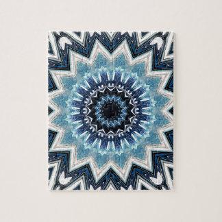 Pointed Blue Mandala Jigsaw Puzzle