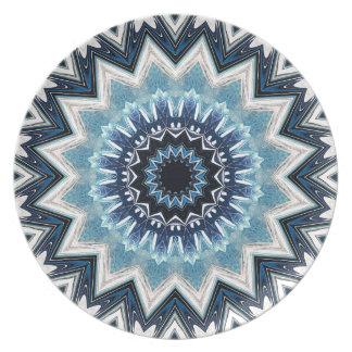 Pointed Blue Mandala Plate