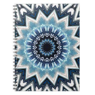 Pointed Blue Mandala Spiral Notebook
