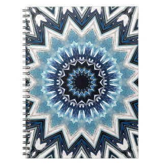 Pointed Blue Mandala Spiral Notebooks