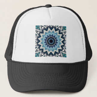 Pointed Blue Mandala Trucker Hat