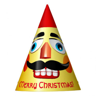 Pointed Head Xmas Nutcracker Toy Soldier Party Hat