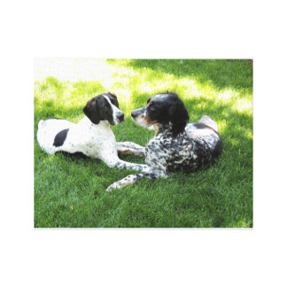 Pointer and Setter Canvas Print