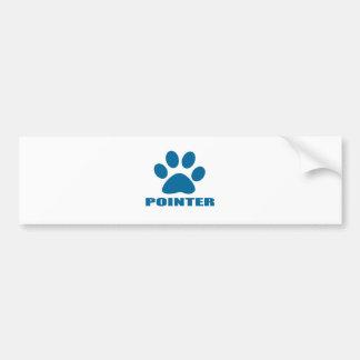POINTER DOG DESIGNS BUMPER STICKER