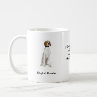 Pointer Dog Mug - With two images and a motif