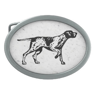 pointer dog oval belt buckles
