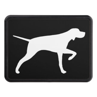 Pointer Dog Silhouette Trailer Hitch Cover