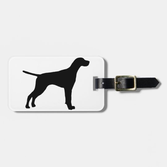 pointer silhouette bag tag