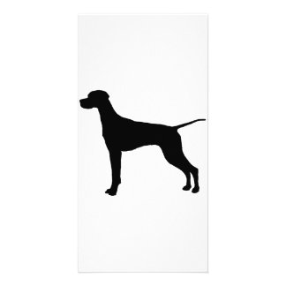 Pointer Silhouette Love Dogs Custom Photo Card