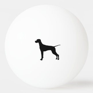 Pointer Silhouette Love Dogs Ping Pong Ball