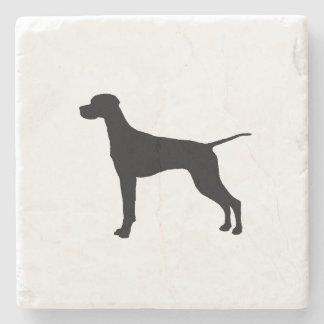 Pointer Silhouette Love Dogs Stone Coaster