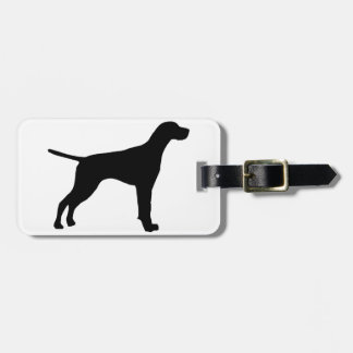 pointer silhouette luggage tag