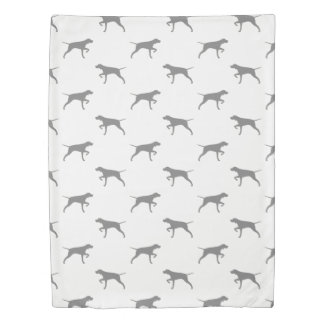Pointer Silhouettes Pattern Duvet Cover
