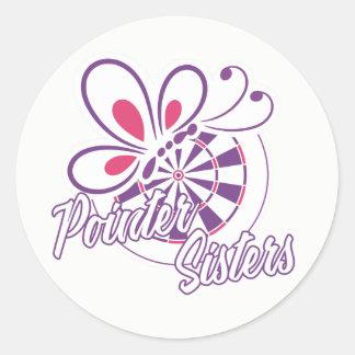 Pointer Sisters Darts Team Classic Round Sticker