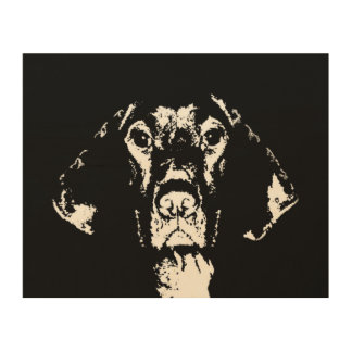 "Pointer Stencil Wood 10""x8"" Wall Art"