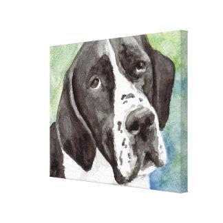 Pointer Watercolor Canvas Art