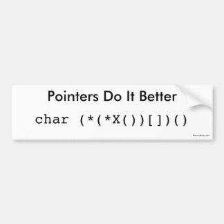 Pointers Do It Better Bumper Sticker