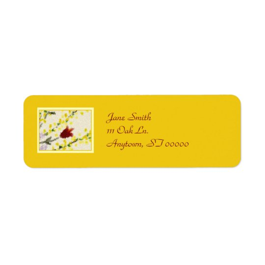Pointillist Spring Flowers Address Labels