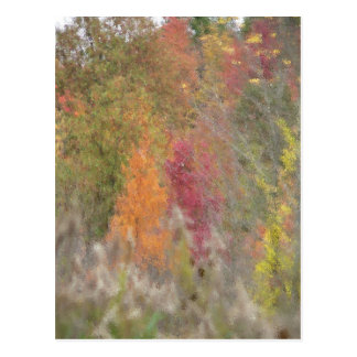 """Pointillist's Autumn"" Postcard"