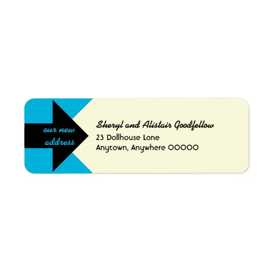Pointing Arrow Moving Announcement Return Address Return Address Label