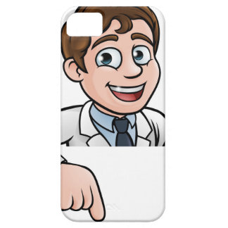 Pointing Cartoon Scientist Character Sign Case For The iPhone 5