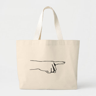 Pointing Finger, Look Over There, Hand Large Tote Bag